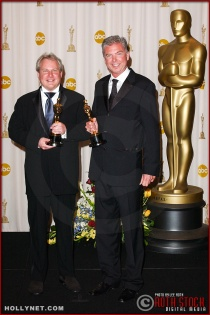 John Myhre and Gord Sim in the Press Room at the 75th Annual Academy Awards®