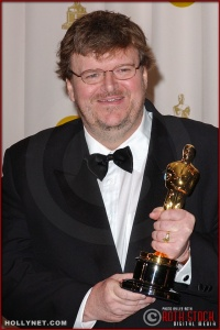 Michael Moore in the Press Room at the 75th Annual Academy Awards®