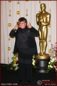 Writer Pedro Almodóvar in the Press Room at the 75th Annual Academy Awards®