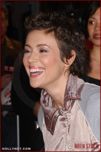 "Actress Alyssa Milano attends the U.S. premiere of ""The Last Samurai"""