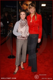 "(L-R) Actress Alyssa Milano and television personality Nancy O'Dell attend the U.S. premiere of ""The Last Samurai"""