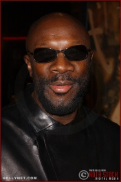 "Singer/songwriter and actor Isaac Hayes attends the U.S. premiere of ""The Last Samurai"""