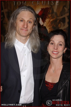 "Visual effects supervisor Jeff Okun and his wife Elizabeth attend the U.S. premiere of ""The Last Samurai"""
