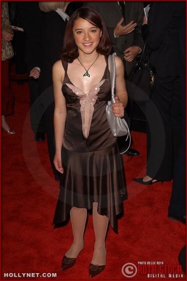 "Actress Keisha Castle-Hughes attends the U.S. premiere of ""The Last Samurai"""