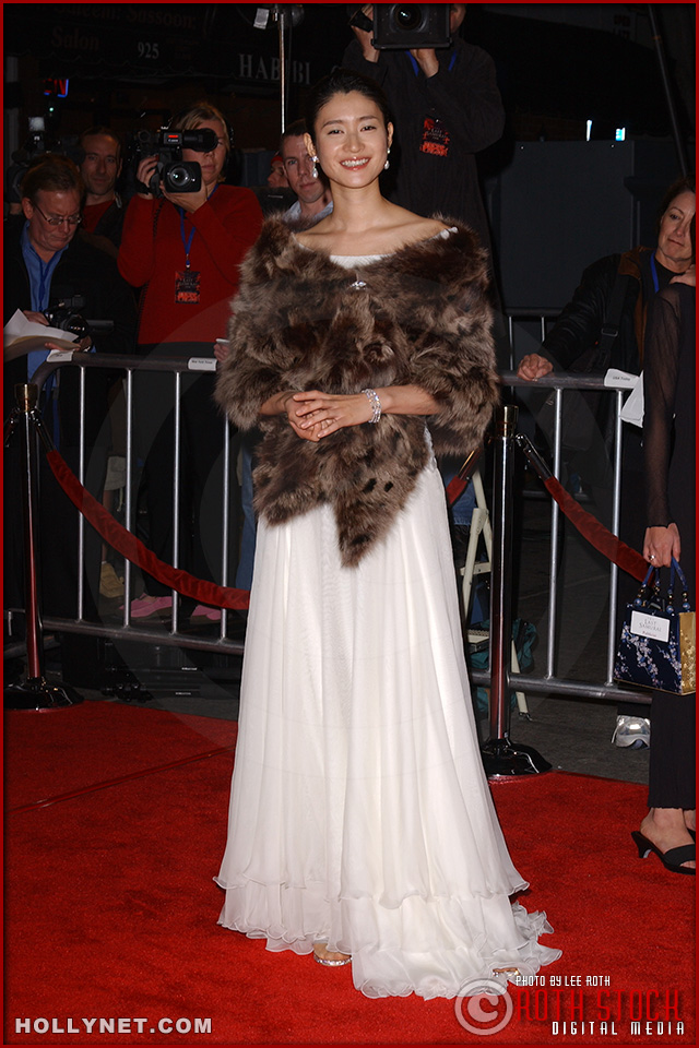 Actress Koyuki attends the U.S. premiere of