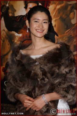 "Actress Koyuki attends the U.S. premiere of ""The Last Samurai"""