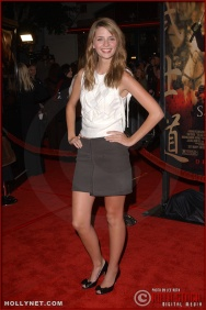 "Actress Mischa Barton attends the U.S. premiere of ""The Last Samurai"""