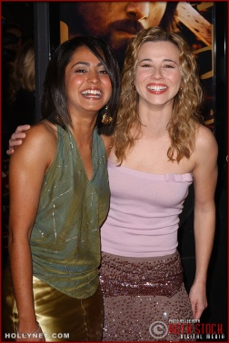 "(L-R) Actresses Parminder Nagra and Linda Cardellini attend the U.S. premiere of ""The Last Samurai"""