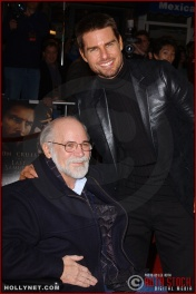 "(L-R) Writer Ron Kovic and actor Tom Cruise attend the U.S. premiere of ""The Last Samurai"""