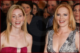 (L-R) Actresses Elisabeth Shue and Marg Helgenberger attend the 10th Annual Screen Actors Guild Awards