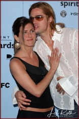Actors Jennifer Aniston and Brad Pitt attend the 18th IFP Independent Spirit Awards